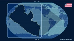 Liberia - 3D tube zoom (Kavrayskiy VII projection). Solids Stock Footage