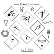 Sport Silhouette icons - stock illustration