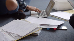Two Female Students With Laptops In Bedroom Shot On R3D Stock Footage