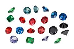 Luxury jewelry gems Stock Photos