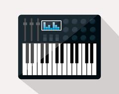 Music technology equipment Stock Illustration