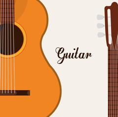 Music guitar instrument - stock illustration