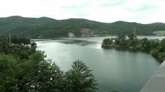 Artificial mountain lake Stock Footage