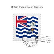 British Indian Ocean Territory Flag Postage Stamp - stock illustration