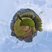 Miniature planet of valley between mountains Kuvituskuvat