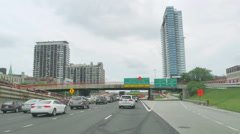 Driving at Full Speed to Downtown Chicago at Rush Hour Stock Footage