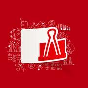 Drawing business formulas. clip Stock Illustration