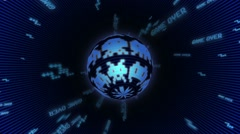 Seamless animated background of elements inspired in Space Invaders arcade Stock Footage