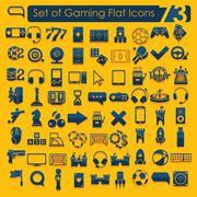 Set of game icons - stock illustration
