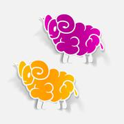 realistic design element: sheep - stock illustration
