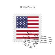 United States Flag Postage Stamp Stock Illustration