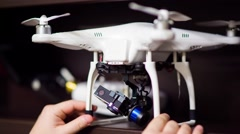 Drone and remote control Stock Footage