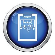 Icon of football coach tablet with game plan Piirros