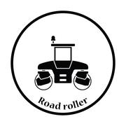 Icon of road roller Stock Illustration