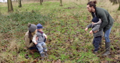 Family On Winter Walk In Countryside Shot On R3D Stock Footage