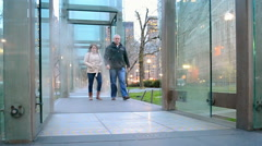Holocaust Memorial in Boston, USA. Stock Footage