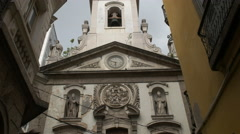 Tilt up view of the church of our lady lapa merchant in rio Stock Footage
