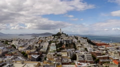 San Francisco Afternoon Time Lapse with Zoom Out Stock Footage