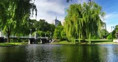 Day Establishing Shot Boston Public Garden   Stock Footage