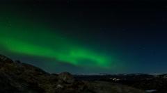 Bjoergvin | Aurora over the Mountains - I Stock Footage
