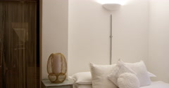 Bedroom Area In Modern Stylish Apartment Shot On R3D Stock Footage