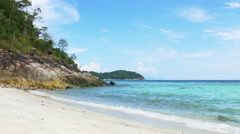 Tropical Island Paradise Beach with Perfect Turquoise Water - Koh Lipe Stock Footage