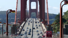 Golden Gate Bridge Time Lapse with Zoom In Stock Footage