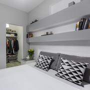 Big double bed - stock photo