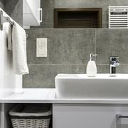 Well organized bathroom - stock photo