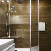 Scandinavian design in bathroom - stock photo