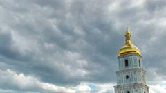 Sophia Square in downtown Kiev. Ukraine.   Zoom out - stock footage
