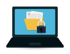 Security system surveillance - stock illustration