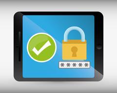 Security system surveillance Stock Illustration