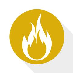 Flame burning icon - stock illustration