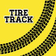 Tire track print Stock Illustration