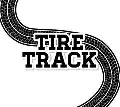 Tire track print - stock illustration