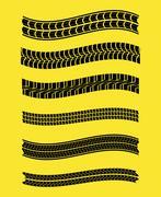 Tire track print Stock Illustration