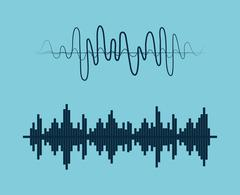 Sound of voice - stock illustration