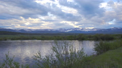 Colorado Mountain with calm pond Stock Footage