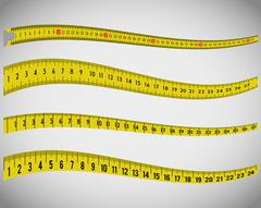 Measure tape and dieting Stock Illustration