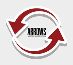 Arrows icons graphic Stock Illustration