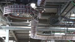 Industrial printing press newspapers, nice curved lines Stock Footage