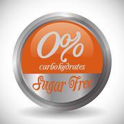 No sugar or sugar free Stock Illustration