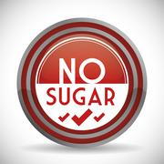No sugar or sugar free - stock illustration