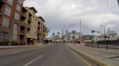 Driving Rear View Hyper Lapse on 1st Street Bridge in Los Angeles Stock Footage