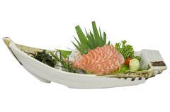 Sashimi salmon - stock photo