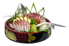 Sashimi Carangidae - stock photo