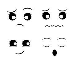 Funny cartoon face - stock illustration