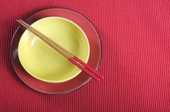 Modern take on traditional Japanese oriental place setting Kuvituskuvat