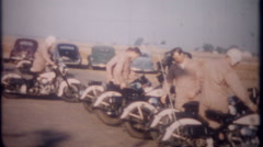3383 military police in motorcycle training with police-vintage film home movie Stock Footage